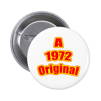1972 Original Red 2 Inch Round Button