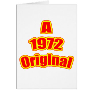 1972 Original Red Card