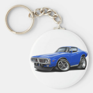 1973-74 Charger Blue Car Keychain