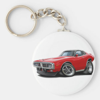 1973-74 Charger Red-Black SE Car Keychain