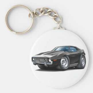 1973-74 Javelin Black-White Car Basic Round Button Keychain