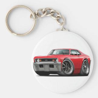 1973-74 Nova Red Car Keychain