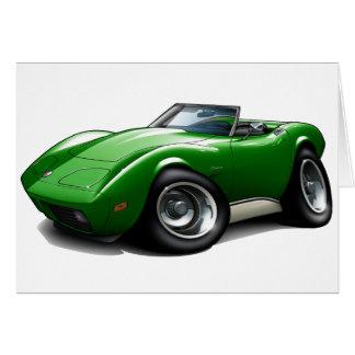 1973-76 Corvette Green Convertible Card