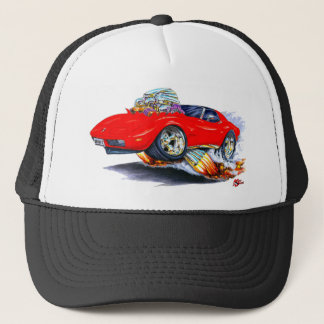 1973-76 Corvette Red Car Trucker Hat