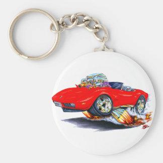 1973-76 Corvette Red Convertible Keychain