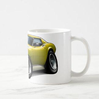 1973-76 Corvette Yellow Car Coffee Mug