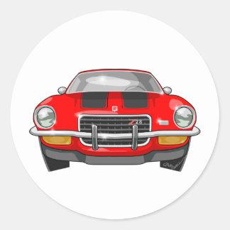 1973 Chevy Camaro Classic Round Sticker