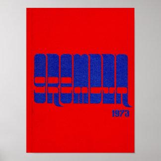 1973 Graydon Gremlin Yearbook Poster