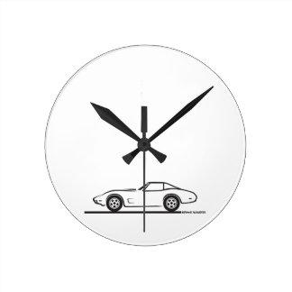 1974 1975 1976 1978 Chevrolet Corvette Hard Top T Wall Clocks