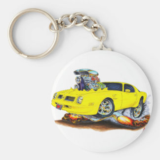 1974-76 Firebird Yellow Car Keychain