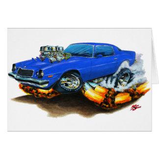 1974-78 Camaro Blue Car Card