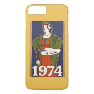 1974 birthday retro painting iPhone 7 plus case