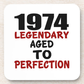 1974 LEGENDARY AGED TO PERFECTION DRINK COASTERS