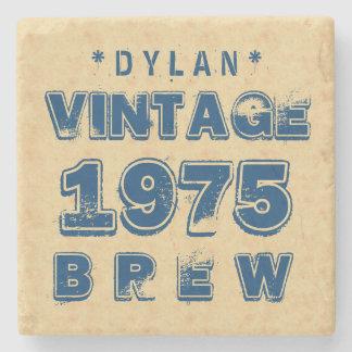 1975 40th or Any Birthday VINTAGE BREW Gold J30BZ Stone Coaster
