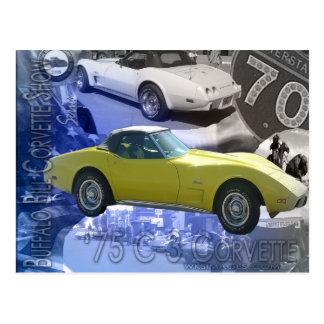 1975 C-3 Corvette-Buffalo Bill Corvette Show Postcard