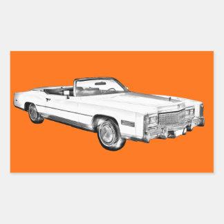 1975 Cadillac Eldorado Convertible Illustration Sticker