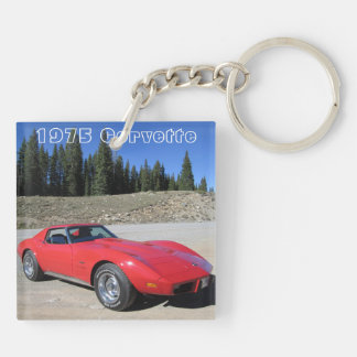 1975 Corvette Double-Sided Key Chain