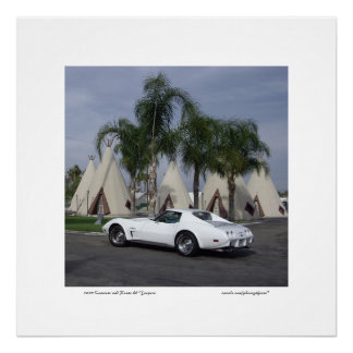 1975 Corvette Route 66 Teepees Poster