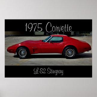 1975 Corvette Stingray L-82 Poster