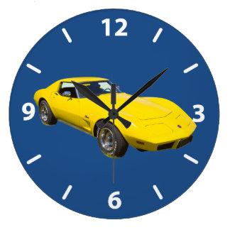 1975 Corvette Stingray Sports Car Large Clock