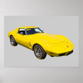 1975 Corvette Stingray Sports Car Poster