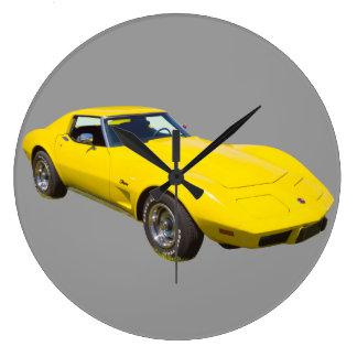 1975 Corvette Stingray Sports Car Wall Clock