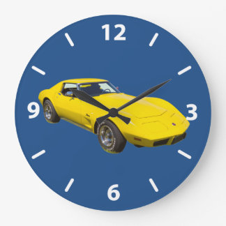 1975 Corvette Stingray Sports Car Wallclocks