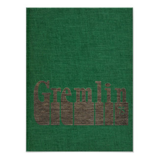 1975 Graydon Gremlin Yearbook Poster