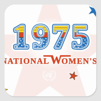 1975_Woman.png Square Sticker