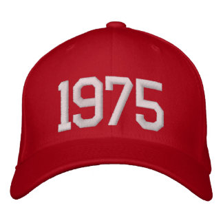 1975 Year Embroidered Hat