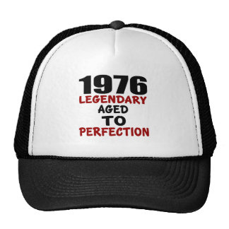1976 LEGENDARY AGED TO PERFECTION TRUCKER HAT