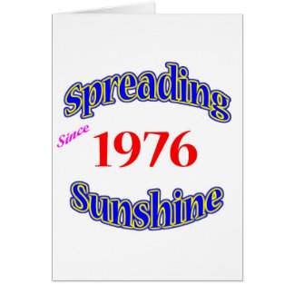 1976 Spreading Sunshine Card