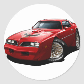 1977-78 Trans Am Red Classic Round Sticker