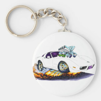 1977-79 Corvette White Car Keychain