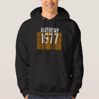 1977 Vintage Birthday Rich Full Bodied Custom Name Pullover