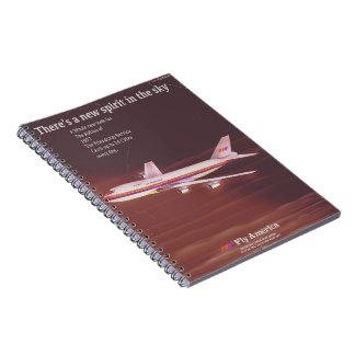1977 vintage style Airliner poster Notebook