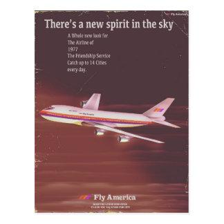 1977 vintage style Airliner poster Postcard