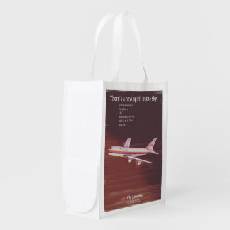 1977 vintage style Airliner poster Reusable Grocery Bag