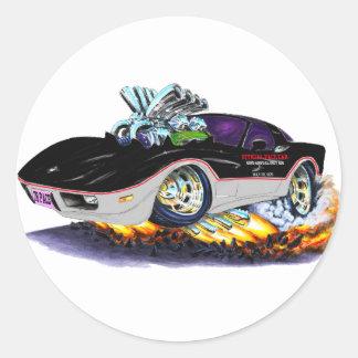1978 Corvette Indy Pace Car Classic Round Sticker