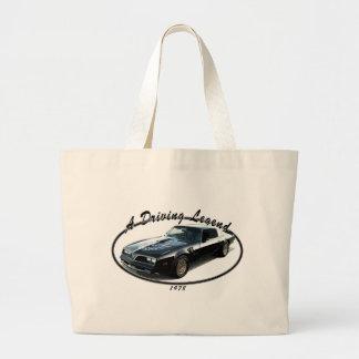 1978_firebird_black01 large tote bag