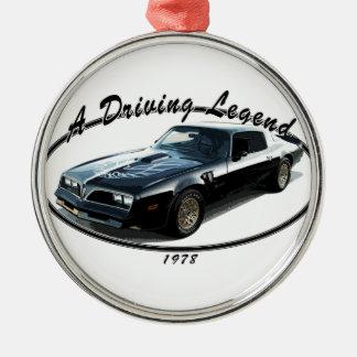 1978_firebird_black01 metal ornament