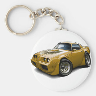 1979-81 Trans Am Gold Car Basic Round Button Keychain
