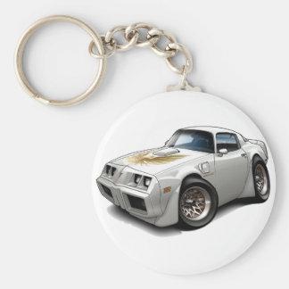 1979-81 Trans Am White Car Basic Round Button Keychain