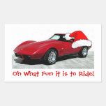 1979 Christmas Red Corvette Sticker