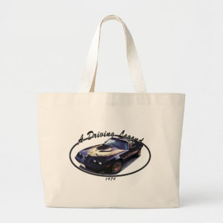 1979_firebird_black01 large tote bag