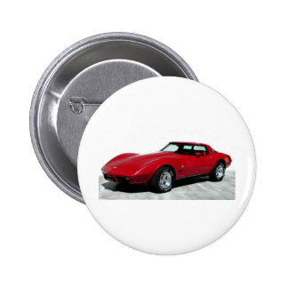 1979 Red Classic Car Button