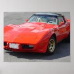 1979 Red Corvette Classic Poster