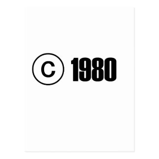 1980 Copyright Postcard