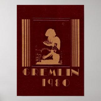 1980 Graydon Gremlin Yearbook Poster