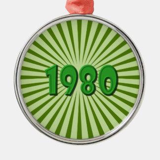 1980 ORNEMENT ROND ARGENTÉ